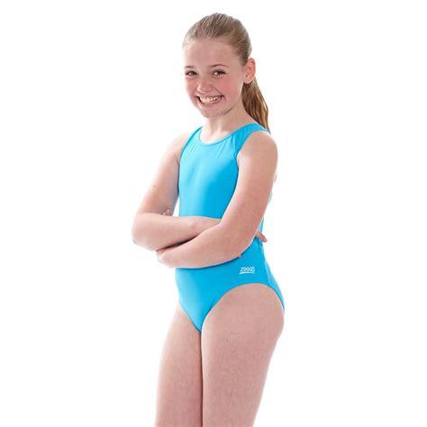 junior girls zoggs junior girls cottesloe sportsback swimsuit blue