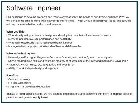 Software Engineer Responsibilities by What Makes A Software Engineer Description