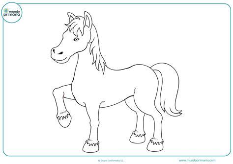 imagenes para colorear un caballo dibujos de caballos para imprimir y colorear mundo primaria
