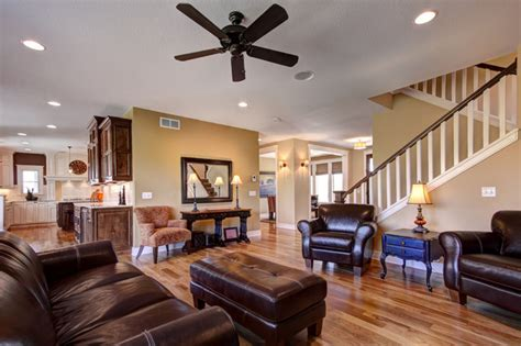 beautifully decorate  open floor plan