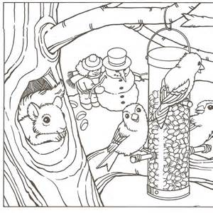 winter coloring pages adults free printable coloring pages of winter az