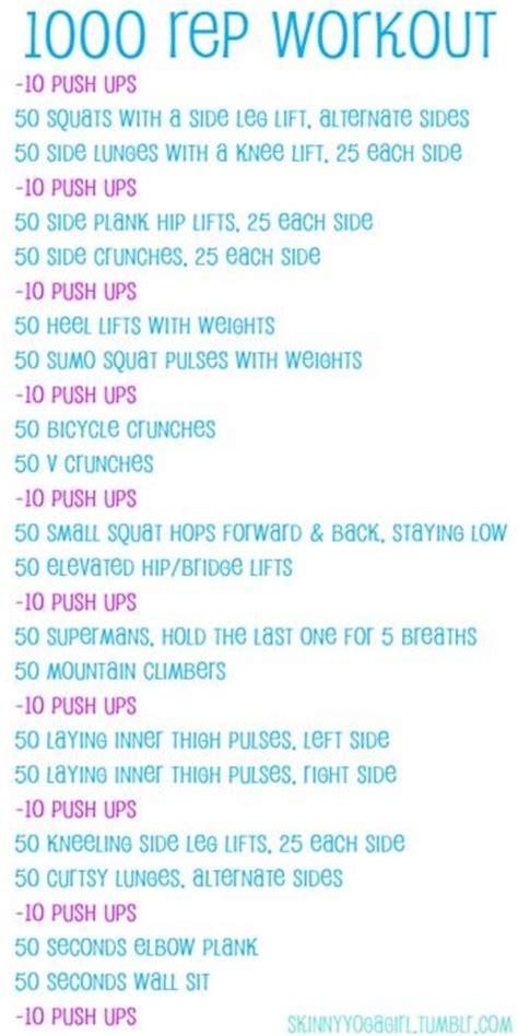 weekend warrior 1 000 reps workout home workouts the