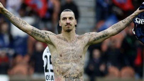 zlatan ibrahimovic tattoos names of 50 starving people paris player zlatan ibrahimovic gets tattoos for starving
