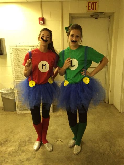 mario  luigi halloween costume  group   diy