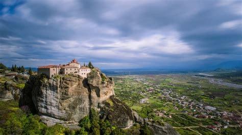 Landscape Pictures Of Greece Meteora Greece Landscape Hd Wallpaper Wallpaperfx