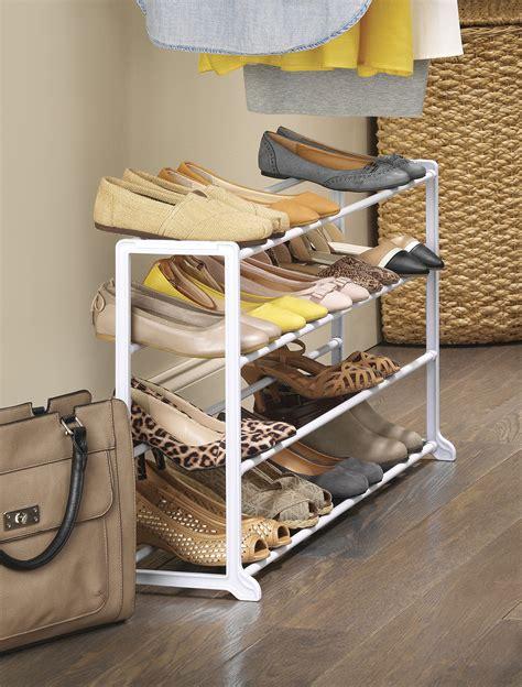 floor shoe storage galleon whitmor 20 pair floor shoe stand white