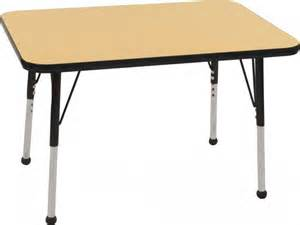 Small Space Outdoor Furniture - ecr4kids adjustable rectangular classroom table 24 quot x36 quot classroom tables