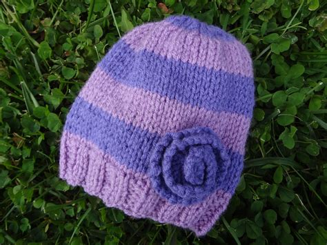 free hat knitting patterns fiber flux free knitting pattern violet newborn hat