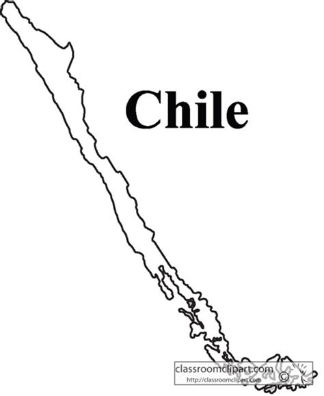 coloring page map of chile chile chile outline map classroom clipart