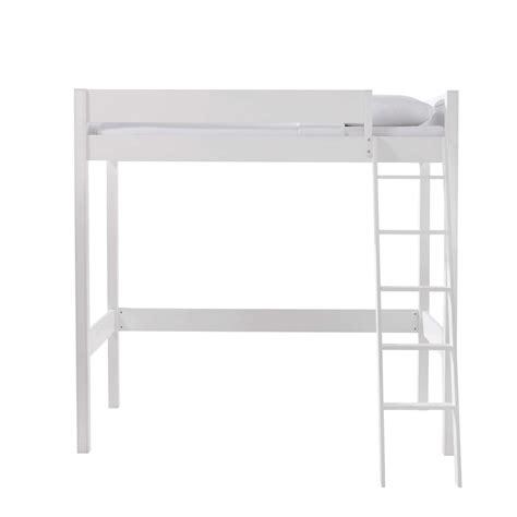 letto a soppalco in legno letto a soppalco bianco in legno 90 x 190 cm newport