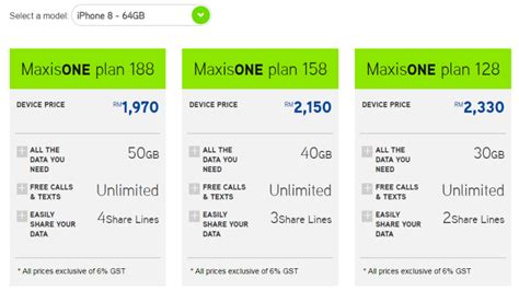 maxis price plans  iphone     revealed