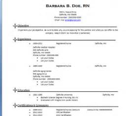 nursing resume templates free resume templates for