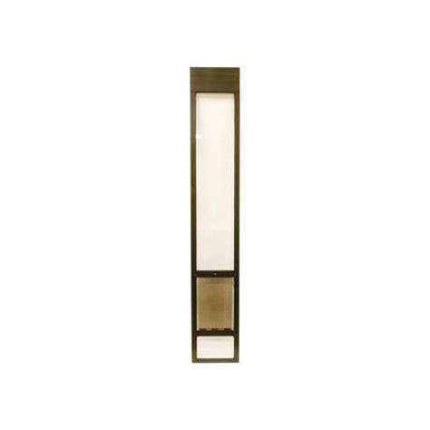 petsafe deluxe bronze patio panel pet doors petco