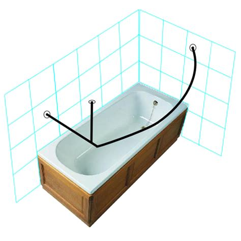 Curved Corner Shower Rod by Curved Corner Shower Rod 30 Quot X 72 Quot