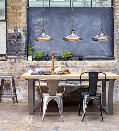 industrial dining room home decor pinterest 25 industrial dining room with masculine interiors home