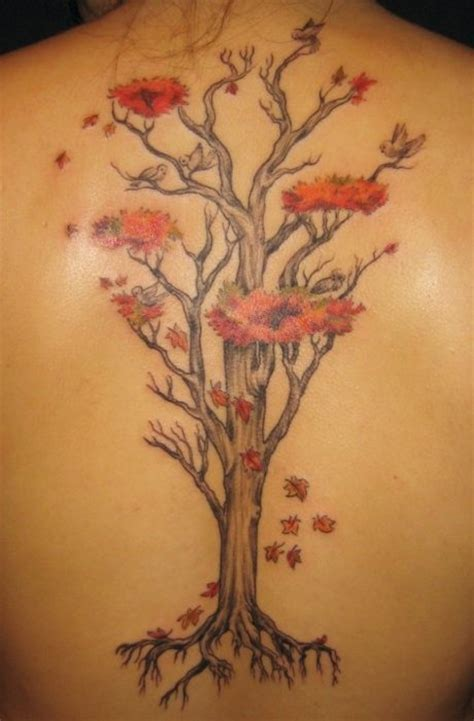 tattoo flower tree amazing flower tree tattoo on back tattooshunt com
