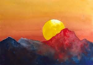 water color sunset dramatic sunset watercolor tutorial an easy step by step