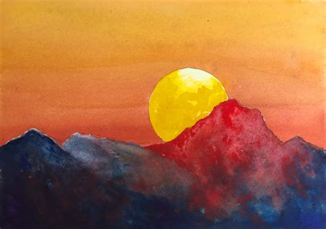tutorial watercolor sunset dramatic sunset watercolor tutorial an easy step by step