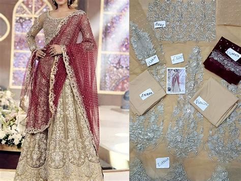designer embroidered net frock price in pakistan m008583