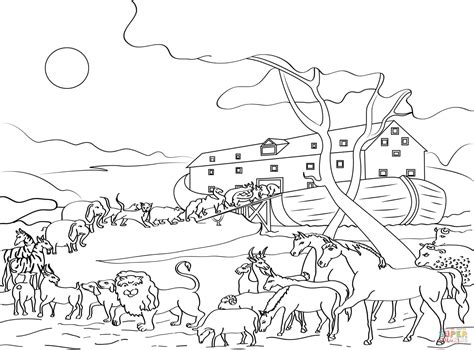 coloring book pages of noah s ark animals loading noah s ark coloring page free printable