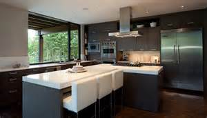 luxury house with a modern contemporary interior digsdigs modern kitchen design by darren james interior design