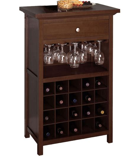 wine armoire 20 bottle wine and stemware cabinet in wine cabinets