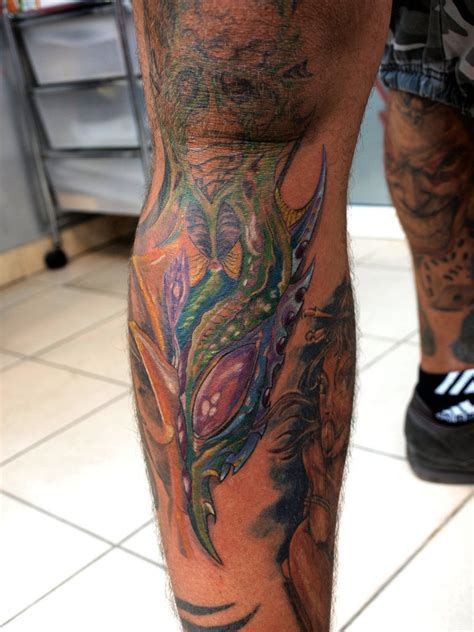 9 best leg tattoo images best biomechanical tattoos on leg tattooshunt