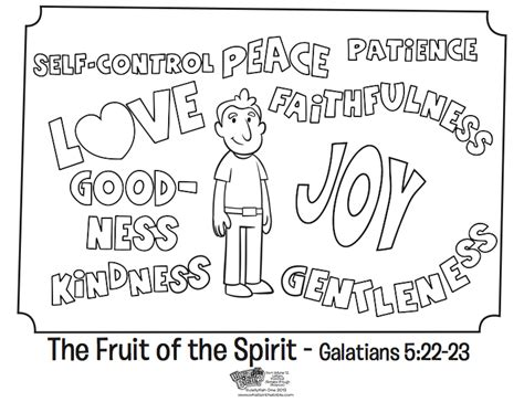 the fruit of the spirit coloring page whats in the bible