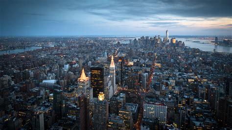 manhattan night in new york city 4k wallpapers manhattan new york city skyscrapers wallpaper