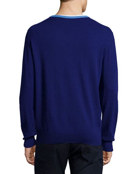 Ssc Adidas Square Crop Sweater Ml ike behar contrast trim sweater navy neiman