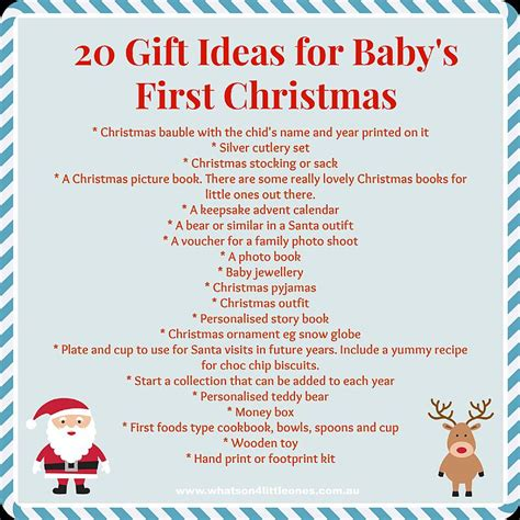 what s on 4 little ones baby s first christmas gift ideas