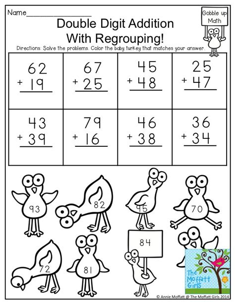 printable addition games with regrouping 2 digit addition with regrouping solve the problems and