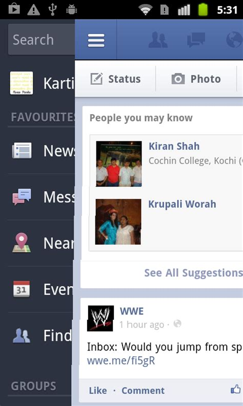 layout invalidate android drag a layout in android like in facebook for android app