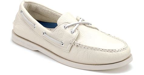 sperry top sider white authentic original ao boat shoes