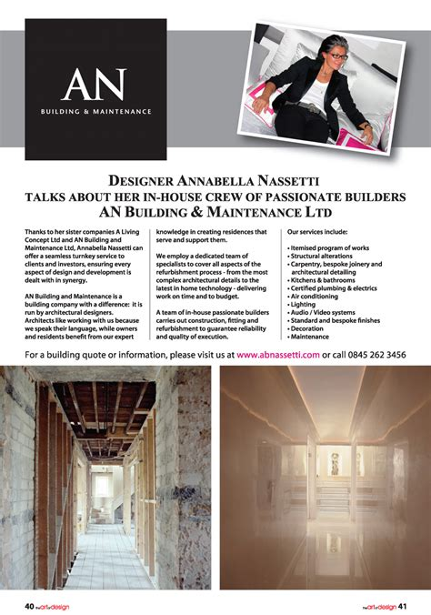 luxury home design magazine contact the art and design magazine annabella nassetti