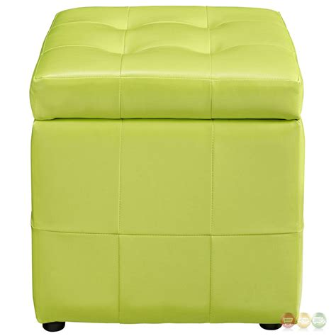 green ottoman storage volt contemporary upholstered button tufted storage
