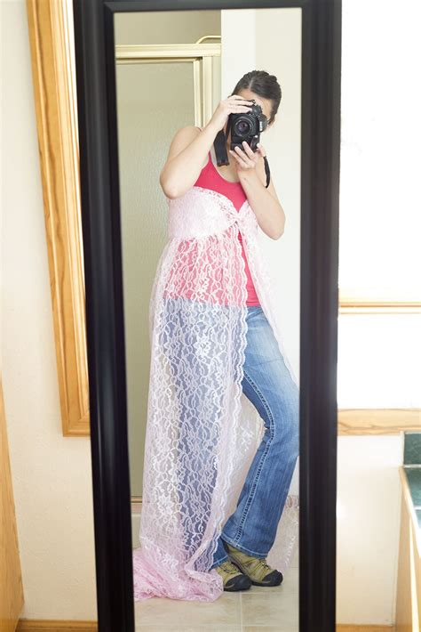 diy birthing gown make your own lace maternity gown a photographer s melody s makings diy