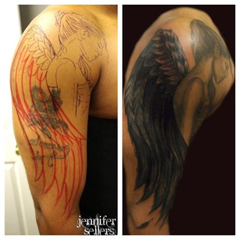 tattoo angel wings sleeve angel tattoos and designs page 59