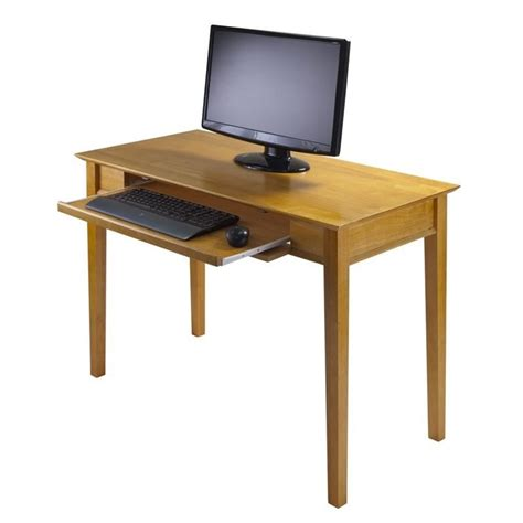 Real Wood Computer Desks Metro Studio Solid Wood Computer Desk In Honey Pine 99042