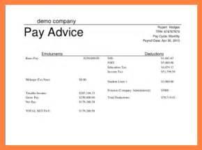 5 simple payslip template salary slip