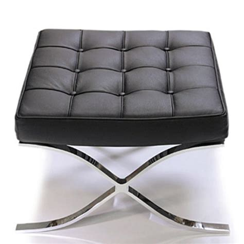 barcelona ottoman replica barcelona inspired chair ottoman black italian leather