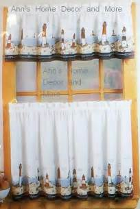 Lighthouse Kitchen Curtains Anns Home Decor And More Lighthouse 24l Tier Valance Set Kitchen Curtains