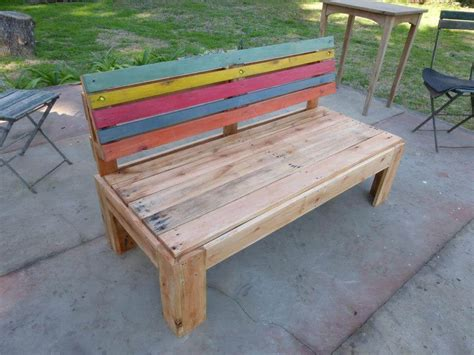 bench pallet pallet outdoor bench with a comfort back 99 pallets