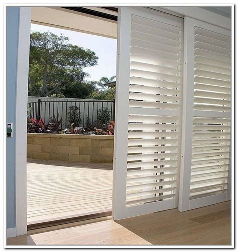 Shutters For Sliding Glass Doors 17 Best Images About Plantation Shutter Options On White Shutters Sliding Doors And