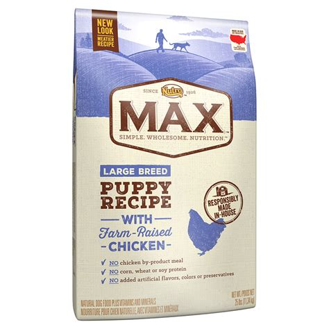 nutro max puppy food nutro max recipe with farm raised chicken large breed puppy food petco