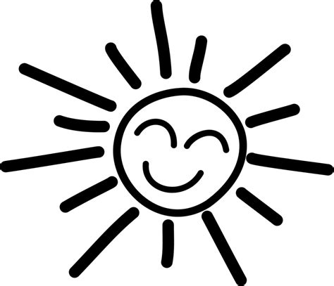 Sun Outline Clip by Best Sun Clipart Black And White 1809 Clipartion