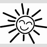 Happy Face Sun Black And White | 1024 x 881 png 87kB