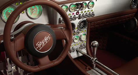 spyker interior preview spyker c8 preliator shifting lanes