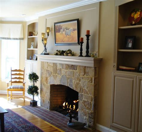 to resurface your outdated fireplace contact a landscaper