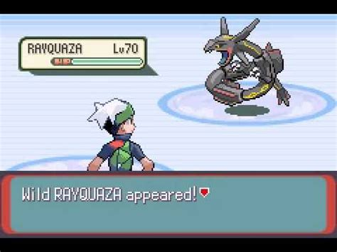 Pokemon Emerald Shiny Rayquaza Capture YouTube